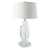 Regina Andrew Lighting Crystal Flat Urn Table Lamp