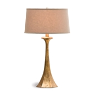 Regina Andrew Lighting Tapered Hex Column Table Lamp - Antique Gold Leaf