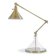 Regina Andrew Lighting Glass Funnel Beaker Task Lamp - Natural Brass