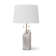 Regina Andrew Lighting Square Raw Alabaster Table Lamp