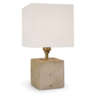 Regina Andrew Lighting Concrete Mini Cube Lamp