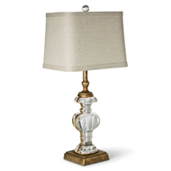 Regina Andrew Lighting Parisian Glass Table Lamp - Antique Gold Leaf