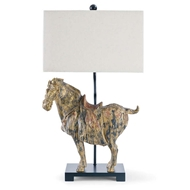 Regina Andrew Lighting Dynasty Horse Table Lamps Pair