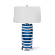Regina Andrew Lighting Striped Ceramic Column Table Lamp