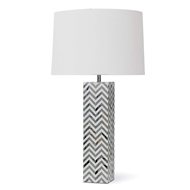 Regina Andrew Lighting Chevron Table Lamp - Grey