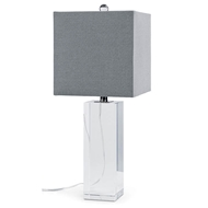 Regina Andrew Lighting Crystal Block Table Lamp