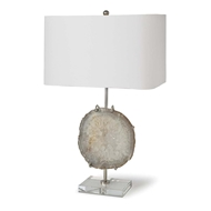 Regina Andrew Lighting Exhibit Table Lamp - Nickel & Natural Agate
