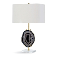 Regina Andrew Lighting Exhibit Table Lamp - Gold & Smoke Agate