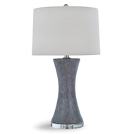 Regina Andrew Lighting Clara Charcoal Ceramic Shagreen Table Lamp
