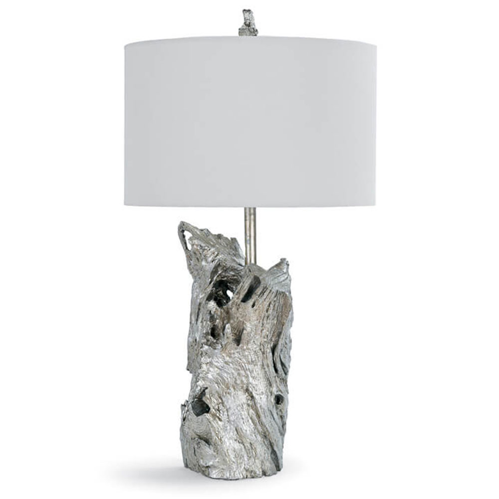 Charmant Regina Andrew Design Lighting Driftwood Table Lamp   Amber Silver Leaf