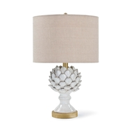 Regina Andrew Lighting Leafy Artichoke Ceramic Table Lamp - Off White