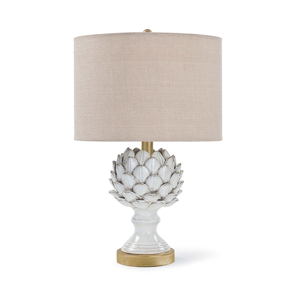 Attractive Regina Andrew Design Lighting Leafy Artichoke Ceramic Table Lamp   Off White