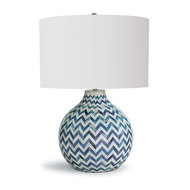 Regina Andrew Lighting Chevron Bone Table Lamp - Indigo
