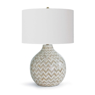 Regina Andrew Lighting Chevron Bone Table Lamp - Multi-Colored