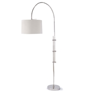 Regina Andrew Lighting Arc Floor Lamp With Fabric Shade - Polished Nickel