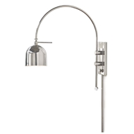 Regina Andrew Lighting Arc Wall Sconce - Polished Nickel
