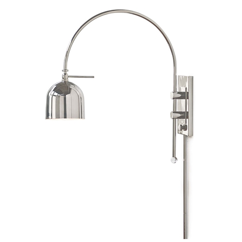 Regina Andrew Lighting Arc Wall Sconce Polished Nickel