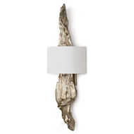 Regina Andrew Lighting Driftwood Sconce - Ambered Silver Leaf
