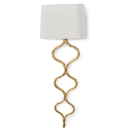 Regina Andrew Lighting Sinuous Sconce - Gold Leaf