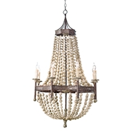 Regina Andrew Lighting Wood Beaded Chandelier