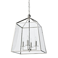 Regina Andrew Lighting Cachet Lantern - Polished Nickel