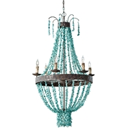 Regina Andrew Lighting Beaded Turquoise Chandelier