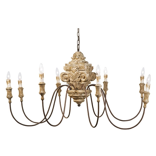 Regina Andrew Lighting Wood Carved Chandelier