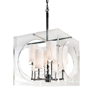 Regina Andrew Lighting Acrylic Cube Chandelier
