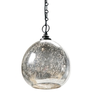 Regina Andrew Lighting Glass Float Pendant - Antique Mercury
