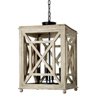 Regina Andrew Lighting Wood Lattice Lantern