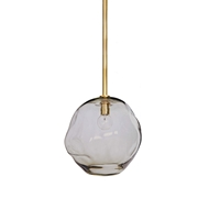 Regina Andrew Lighting Molten Pendant Large With Smoke Glass - Natural Brass