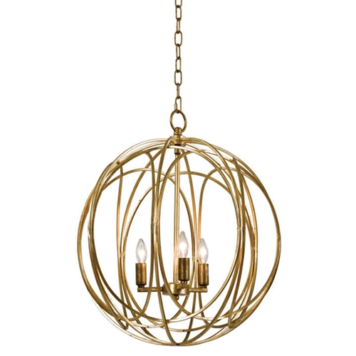 Regina Andrew Lighting Ofelia Chandelier Large Gold Leaf