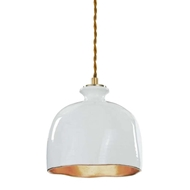 Regina Andrew Lighting Bianca Ceramic Pendant - Gloss White & Gold