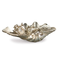 Regina Andrew Home Clam Shell Medium W/Small Shells - Silver