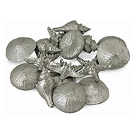 Regina Andrew Home Assorted Mini Seashells Set of 12 - Silver
