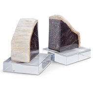 Regina Andrew Home Petrified Wood Bookends On Crystal