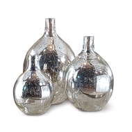 Regina Andrew Home Wine Spheres Set of 3 - Antique Mercury