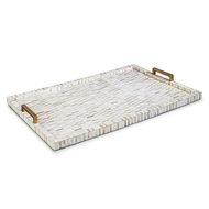 Regina Andrew Home Multi-Tone Bone & Brass Tray