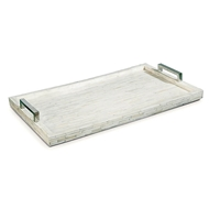 Regina Andrew Home White Bone & Nickel Tray