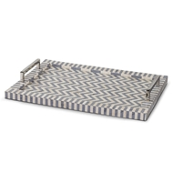 Regina Andrew Home Chevron Tray - Grey