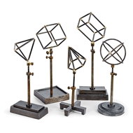 Regina Andrew Home Geometrical Shapes On Stand - Set of 5