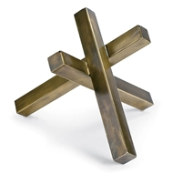 Regina Andrew Home Intersecting Sculpture - Brass