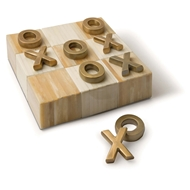 Regina Andrew Home Tic Tac Toe Flat Board With Brass Pieces