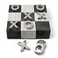 Regina Andrew Home Tic Tac Toe Flat Board With Nickel Pieces