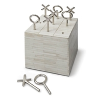 Regina Andrew Home Tic Tac Toe Block - White Bone