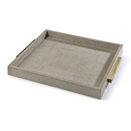 Regina Andrew Home Square Shagreen Boutique Tray - Ivory Grey Python
