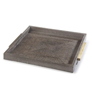 Regina Andrew Home Square Shagreen Boutique Tray - Vintage Brown Snake