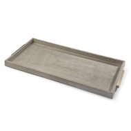 Regina Andrew Home Rectangle Shagreen Boutique Tray - Ivory Grey Python