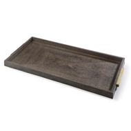 Regina Andrew Home Rectangle Shagreen Boutique Tray - Vintage Brown Snake
