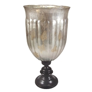 Regina Andrew Home Glass Hurricane - Antique Silver